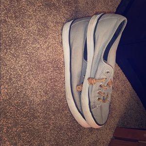 grey size 6.5 sperries